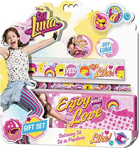 Soy Luna Blíster de papelería con 5 piezas y estuche (Kids Euroswan KD-WD18031), Unica (Kids Euroswan WD18031)