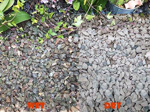 Copeaux de graviers gravillons pour jardin, patio, allée, plantes en granite bleu irisé (10–20 mm), 20KG