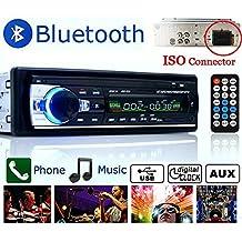 BoomBoost1DIN coche estéreo 12V FM Radio SD / USB / AUX Bluetooth remoto reproductor de MP3 unidad principal reproductor de MP3