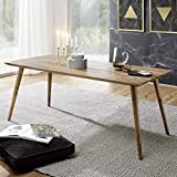 FineBuy Esszimmertisch 160 x 80 x 76 cm Sheesham rustikal Massiv-Holz | Design Landhaus Esstisch | Tisch für Esszimmer groß | 6-8 Personen