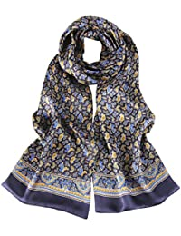 Mens Silk Scarf High Quality Double Layer Satin Smooth Comfortable Anti-allergy Cravat Elegant Accessories