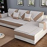 HM&DX Anti-rutsch-stoff sofa kissen baumwolle hanf allgemeine mat einfache moderne volle deckung universal anti-rutsch hülle abdeckung handtuch-taobao sitzen vier jahreszeiten-beige 90x240cm(35x94inch)