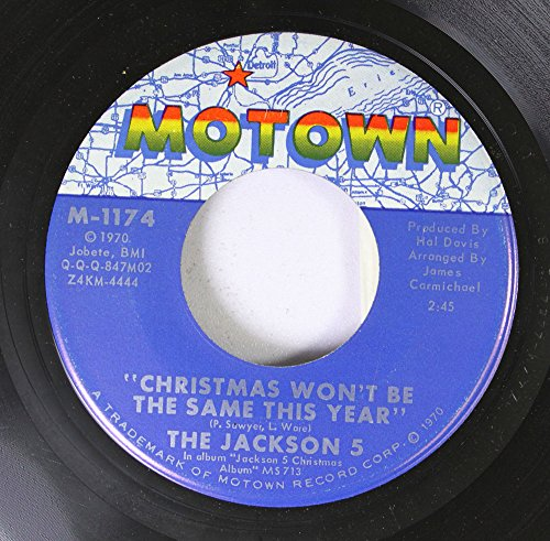 The Jackson 5 45 RPM Christmas Won't Be The Same This Year / Santa Claus Is Comin' To Town (Christmas Vinyl Jackson 5)