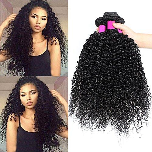 ur beautiful 8A human hair capelli veri ricci capelli umani brasiliana hair capelli ricci extension colore naturale 22 24 26 pollici (100+/-5g /pc, totale 300g)