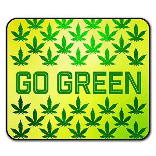Grün Cannabis Topf Rasta Mouse Mat Pad, Verrückt Rutschfeste Unterlage - Glatte Oberfläche, verbessertes Tracking, Gummibasis von Wellcoda -