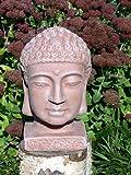 Buddha Kopf groß- Terrakotta, Garten, Deko, Figur, Stein, Statue, Frostsicher