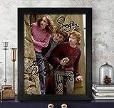 Rupert Grint [Ron Weasley], [Hermione Granger] Emma Watson et Daniel Radcliffe [Harry Potter] autographe Signée par 8x 10Photo Reprint RP PP * Harry Potter *