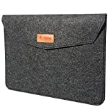 TIZUM Premium 13.3-Inch Felt Laptop Sleeve (Slate Grey)