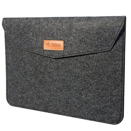 TIZUM Premium 11.6-Inch Felt Laptop Sleeve (Slate Grey)