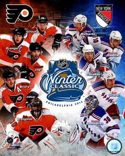 Nhl Poster Shop (The Poster Corp 2012 NHL Winter Classic Zusammengesetzt - Flyer/Rangers Match Up Photo Print (20,32 x 25,40 cm))