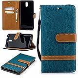 COWX Leder Kreditkarten Brieftasche Handy Schutzhülle für Nokia 3.1 (2018) Hülle Tasche Flip Case (BFP29)