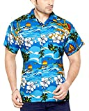 CLUB CUBANA Men's Casual Shirt 7109322322517_Blue_XL