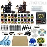 ITATOO Kit Completo Tatuaggio Con 2 Pistole Tatuaggio 20 Inchiostro Del Tatuaggio 50 Aghi Per Tatuaggio Punte Del Tatuaggio Grips Spina dell'UE (TK1000013)