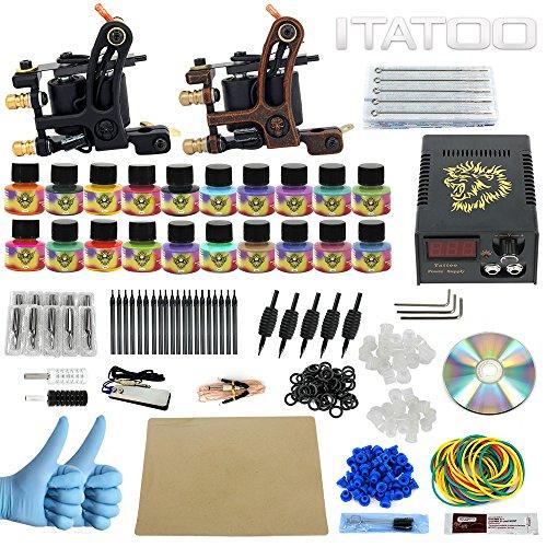 ITATOO Kit Completo Tatuaggio Con 2 Pistole Tatuaggio...