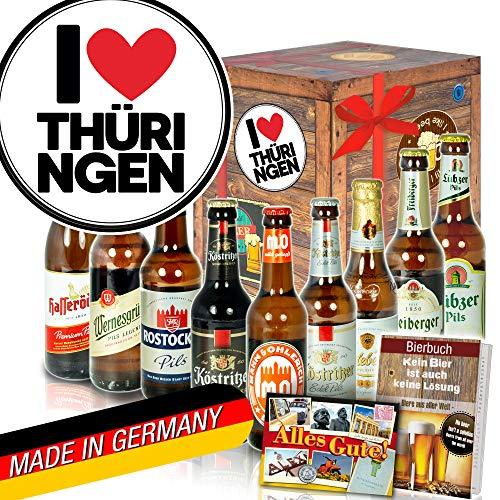I Love Thüringen ♥ Thüringen Geschenk ♥ DDR Bier Set Bier Pilsner Set