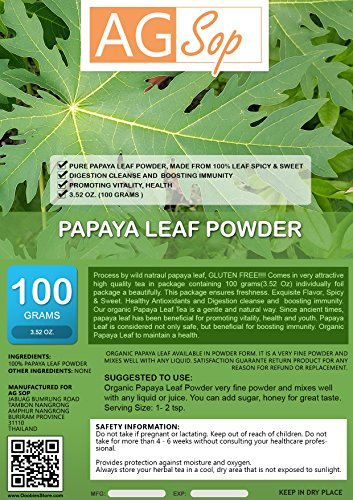 AG Sop Papaya Leaf Powder, 3.52 oz