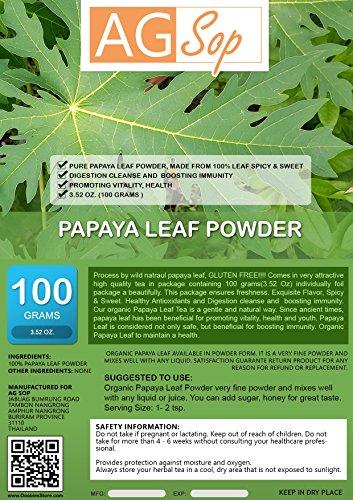 AG Sop Papaya Leaf Powder, 3.52oz