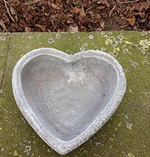 """Garten Deko """" Pflanzschale Herz *, massiver Steinguss, frostfest bis -30°C"""