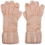 styleBREAKER warme glänzende Handschuhe mit doppeltem Bund, Winter Strickhandschuhe, Damen 09010011, Farbe:Altrose meliert
