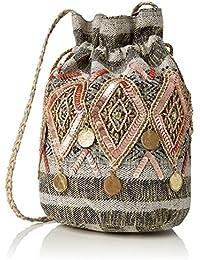 Miss Selfridge - Trim Duffle, Bolsos de mano Mujer, Multicolour (Multi), 14x23.5x19.5 cm (W x H L)
