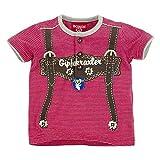 BONDI T-Shirt geringelt ´Hosenträger´, stripe rot/weiss 74 Tracht Baby Jungs Artikel-Nr.90770