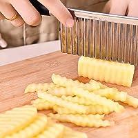 Ndier Coltello guaina vegetale  Coltello guaina di acciaio inox per tagliare patatine  Coltello da cucina in acciaio inox