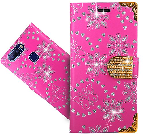 Leagoo S8 Pro Handy Tasche, FoneExpert® Wallet Case Cover Bling Diamond Hüllen Etui Hülle Ledertasche Lederhülle Schutzhülle Für Leagoo S8 Pro