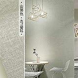 SQBZ Papel tapiz de viento nórdico, lino de colores puros, dormitorio moderno y simple, hotel de sala de estar, tienda de ropa, papel tapiz de color gris, Color Rábano picante / 471902, solo fondo d