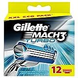 Gillette Mach3 Turbo-Confezione di lame da uomo-Confezione da 12
