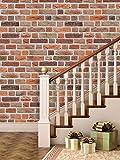 PPD 'Bricks Deep Dark Brown' Peel and Stick (Small Roll / 26.7 SqFt)