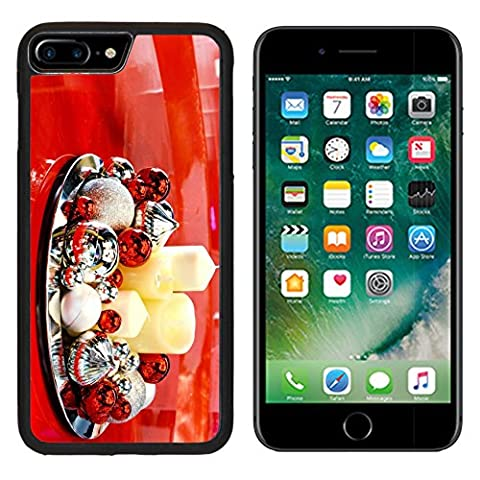 MSD Premium Apple iPhone 7 Plus Aluminum Backplate Bumper Snap Case iPhone7 Plus christmas ball ornament on red table IMAGE 34611779