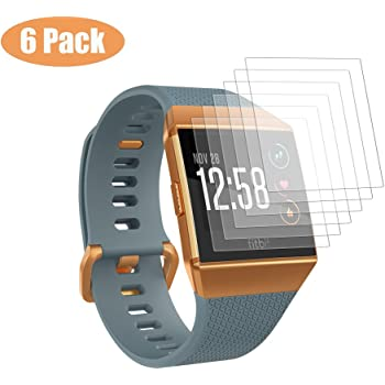 Vicara Compatible Fitbit Ionic Screen Protector,[6-PACK] [NO-Peeling off] [Full Coverage] HD Clear/ Anti-Fingerprint/Anti-Scratch/Anti-bubbles Film for Fitbit ionic