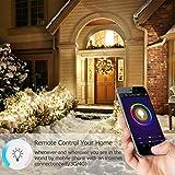 Smart Alexa Lampe, Wifi LED Glühbirne Hergestellt aus Aluminiumlegierung, E27, 7W, 650LM steuerbar via App auf IOS&Android, mehrfarbige und Helligkeits Kontrolle, Kompatibel mit Alexa &Google Home - 6