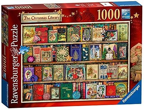 Ravensburger UK 19801The Christmas Bibliothek Puzzle (1000Teile) (Dancing Santa Weihnachten)