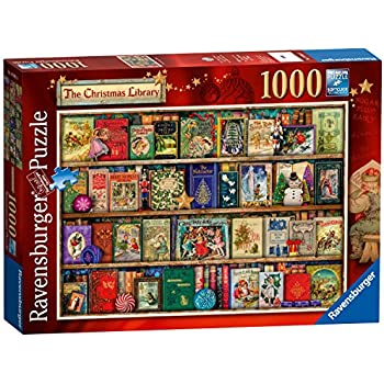 Ravensburger The Christmas Library, 1000pc Jigsaw Puzzle: Amazon ...