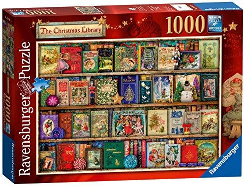 Motiv: Weihnachtsbücherei, 1000Einzelteile (Elf Auf Dem Regal Erwachsenen)