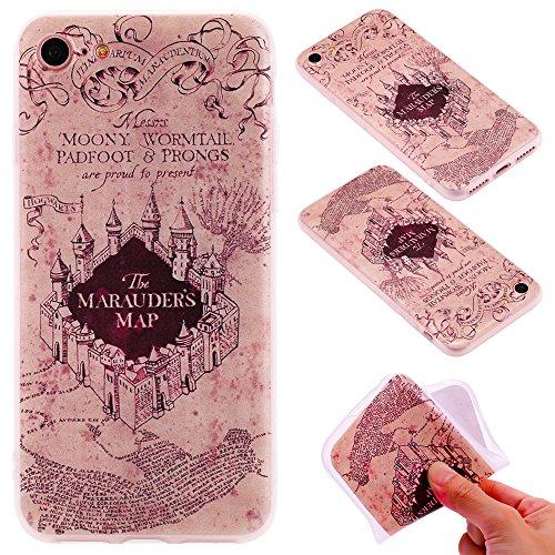 Ooboom® iPhone 5SE Hülle TPU Silikon Matt Prägen Weich Handy Tasche Case Cover Flexibel Bumper Ultra Dünn Slim für iPhone 5SE - Mädchen Schloss