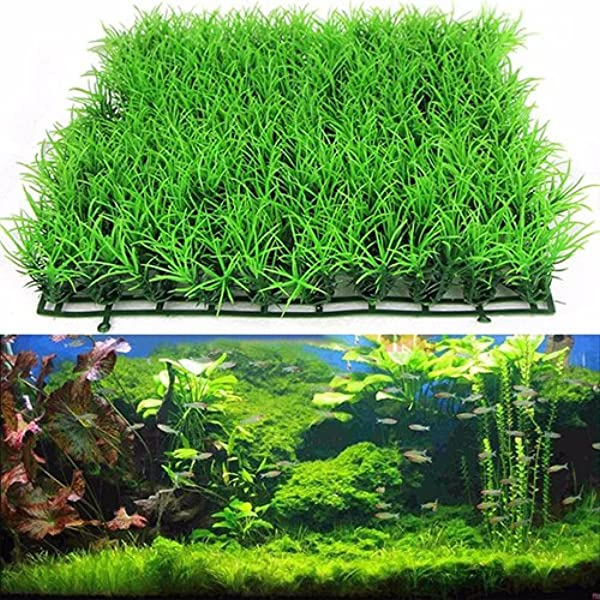 colore verde Multi in plastica Prato acquatico artificiale per acquario KaariFirefly piante per decorazione in stile paesaggio