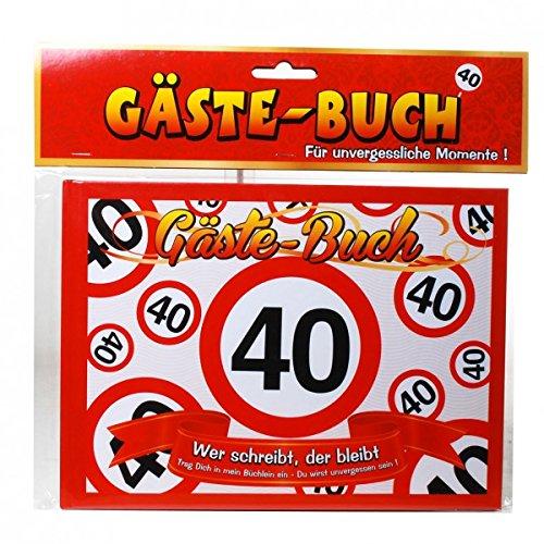 Geburtstag Gästebuch 40 Jahre Verkehrsschild Party Deko Gäste - Buch (40. Geburtstag Deko-ideen)