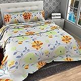 Dream Weaverz 5D Printed Cotton Double Bedsheets (90x100-inches) - Multicolour