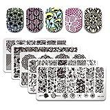 Born Pretty 5 PCs Nail Art Stamp Template Image Plates BPL026-030