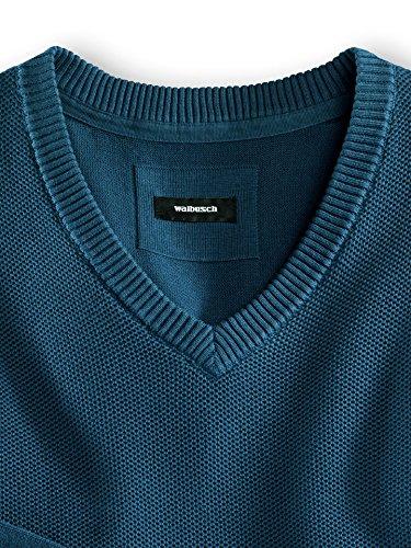 Walbusch Herren Pullover einfarbig in den Farben Blau, Rot, Aqua, Jeansblau Jeansblau