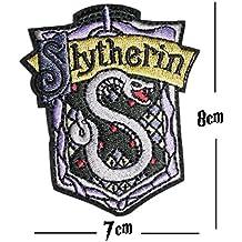 Slytherin Stickerei Patch Eisen auf oder Nähen auf Hogwarts House bestickt Motiv Harry Potter Transfer Aufnäher
