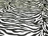 OD Baumwollstoff, Druck mit Zebra-Muster, Meterware, ca.