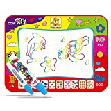 Large Magic Water Drawing, pintura Paint Mat Pad Board, 4 colores Kids Water Drawing, tabla estera y Magic Pen Doodle, regalo para niños, niñas, niños pequeños, niños, 80 X 60 cm