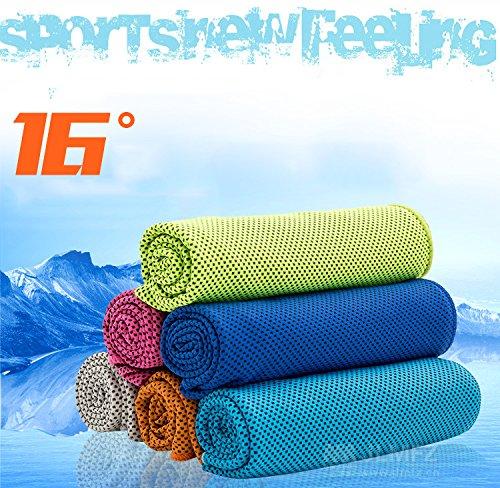 blueqier Fashion Kühlendes Handtuch, für Sport Workout Fitness Fitness Yoga Pilates Reisen Camping mehr