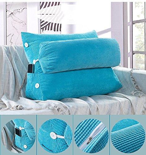 lhl-Standard-Füllung Kissen Dreieck Sofa Kissen Nachttisch mit Kopfkissen Kopfstütze Taille Bürostuhl Rückenlehne waschbar Bettwäsche/Sofa/Lendenwirbelkissen (Farbe : I, größe : Size60*25 * 50cm)