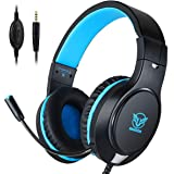 T98 Headset PS4, Gaming Headset mit Mikrofon Noise Cancelling Surround Sound, 3.5 mm Stereo On Ear kopfhörer für PS4 Xbox One PC Laptop Tablet Handy