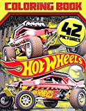 HOT Wheels Coloring Book: Great 42 Illustrations for Kids