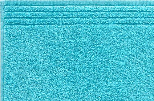 Grund h2779–039207174 Memory Marchandises en éponge, Serviette, Coton, Turquoise, 70 x 140 x cm